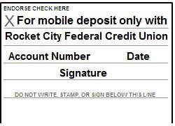 Mobile Deposit Endorsement
